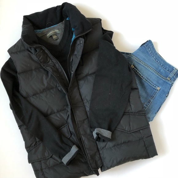 e04c865cf Men's Banana Republic Black Puffy Down Vest Size M